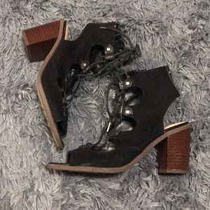 Circus by Sam Edelman Lace Up Sandals Black